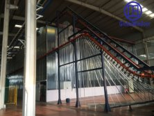 Vertical aluminum spraying line