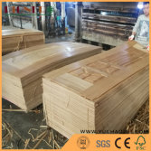 Natural veneer HDF door skin production