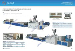 pvc wide door/kitchen board sheet extrusion line