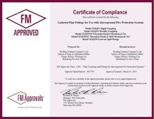 FM certificate of Pipe Coupling