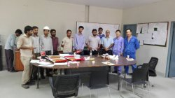 Birthday party for Owner′s project manager Naveed