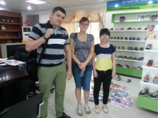 The client from Russia come to visit us