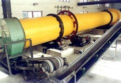 Rotary dryer for Calcium carbonate in Russia