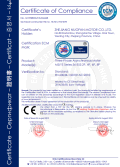 CE Certificate of MS/YS 3 phase AC Motor