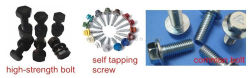 high-strength bolts, common bolts and self tapping screws