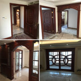 Sapele wood room door sliding glass door wood frame sill