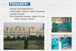 GENERATORS FOR FOXCONN FACTORY