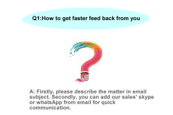How to get faster feedback from you?