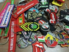 Promotion Key Ring of Woven Label and Badges