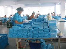 CPE gown production line