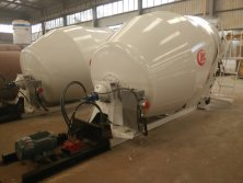 Concrete mixer truck for installation