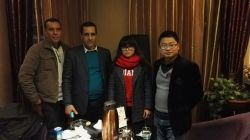 Algeria agent visited china noelift forklif factory