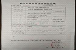Import and Export Register Sheet