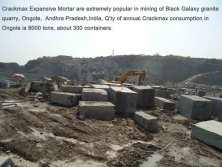 Expansive mortare for quarry cracking