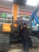 Tonga Clients visit for HYUNDAI excavator