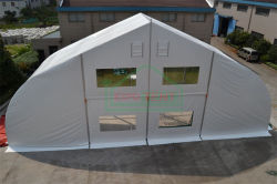 Curved tent at 20m span width