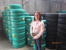 Car tyre warehouse and packing with customer