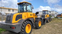 Wheel loader HQ928,HQ918 arrived at Anguilla