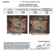 "Test Report Of 5′*6′7"" Heavy Duty Walk Thru Frame"