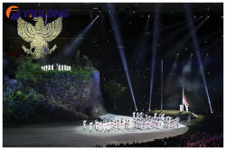 Asian Games Opening Ceremony Flag Pole Project