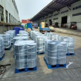 Galvanized iron drum packed