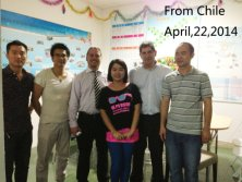 Xinyimei Sales Team with customer