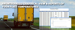 GPS fleet tracking with temperature monitoring