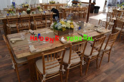 Wood Chiavari Wedding Chair with Farm Table