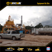 Mobile Asphalt Batching Plant in South Asia