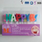Fashionable Happy Birthday Letter Candle with Different Sizes Characters of Taper Candle
