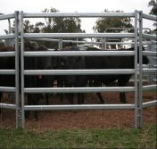 Oval Tube Galvanized Steel Cattle Corral Panel/Horse Corral Panel