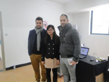 Two Portuguese client come to view T-shirt printer