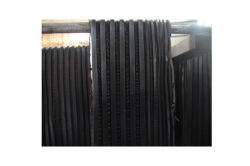 Black rubber material
