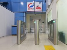 Railway Station Access Control-Speed Gate Turnstile Project in Indonesia