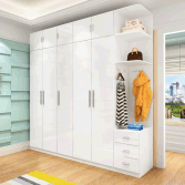 2017 YIJIA customizable large-capacity wooden wardrobe