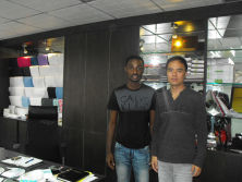 With The Customer From Ghana