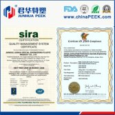 Peek products to obtain the certificate and certification