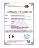 CE certificate for car charger