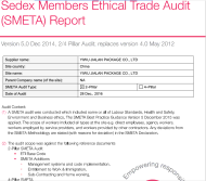 Sedex audit