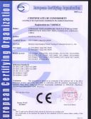CE certificate for snow blower
