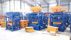 QT4-24 semi automatic concrete block making machinery