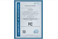 the FC certificate for the bluetooth earphone
