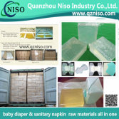 Diaper/sanitary napkin raw materials hot melt glue