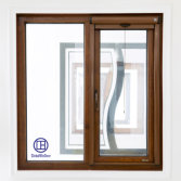 Aluminum wood casement window