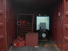 Conctete Pump Loaded in Container