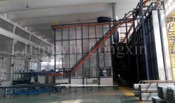 Vertical powder coating line