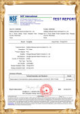 NSF TEST REPORT