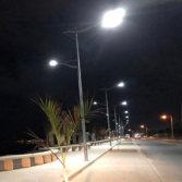 Mozambique 8m 60w+30w led street light