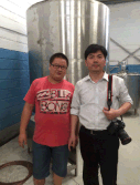 Engineer and Company Boss visit customer factory