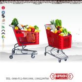 Supermarket Plastic Shopping Trolley Carts